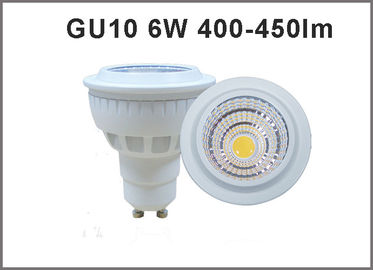 China Bulbo de alta calidad GU10 dimmable/nondimmable del proyector GU10 450-450lm LED de 6W AC85-265V LED fábrica