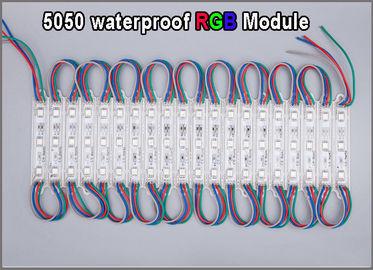 Los 5050 moduels multicolores de alta calidad del módulo del RGB LED impermeabilizan la iluminación iluminada de la muestra de la publicidad al aire libre
