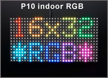 China Módulo interior 320*160m m 32*16pixels de P10 RGB SMD LED para el panel a todo color de la muestra P10 del mensaje LED del movimiento en sentido vertical de la pantalla LED distribuidor