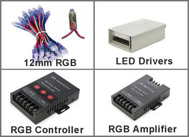 pixel de 5V 12m m RGB LED sin muestras de publicidad al aire libre flexibles de los pixeles 50pcs/string 0.3W DC5V IP67 LED de la secuencia de IC