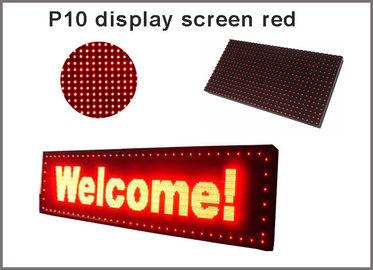 5V P10 llevó la señalización roja del anuncio del semioutdoor 320*160 de la pantalla de visualización de las iluminaciones del módulo del panel