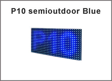 China módulo de la exhibición de 3Semioutdoor LED P10, mensaje azul del movimiento en sentido vertical de la pantalla LED del solo color distribuidor